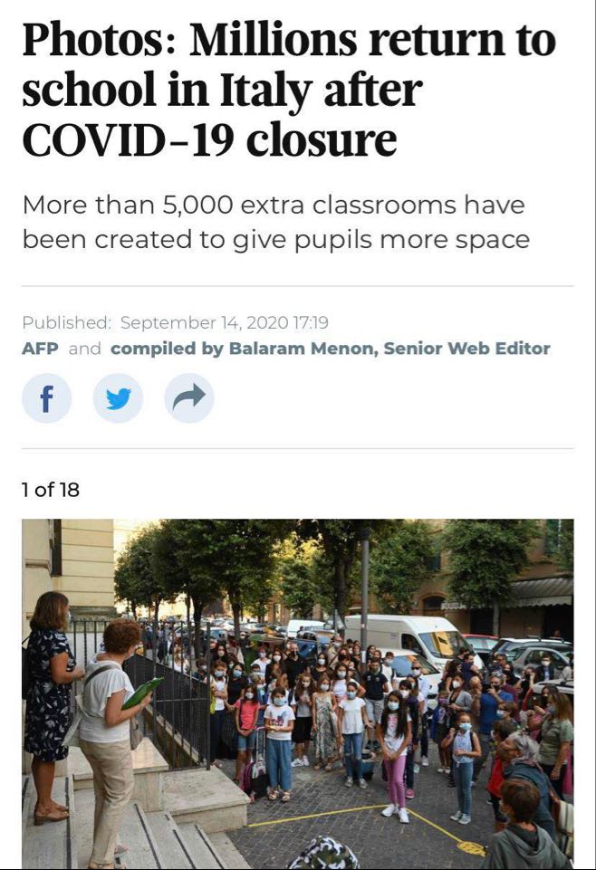 Милиони деца во Италија се враќаат во училиштата по затворањето предизвикано од коронавирусот