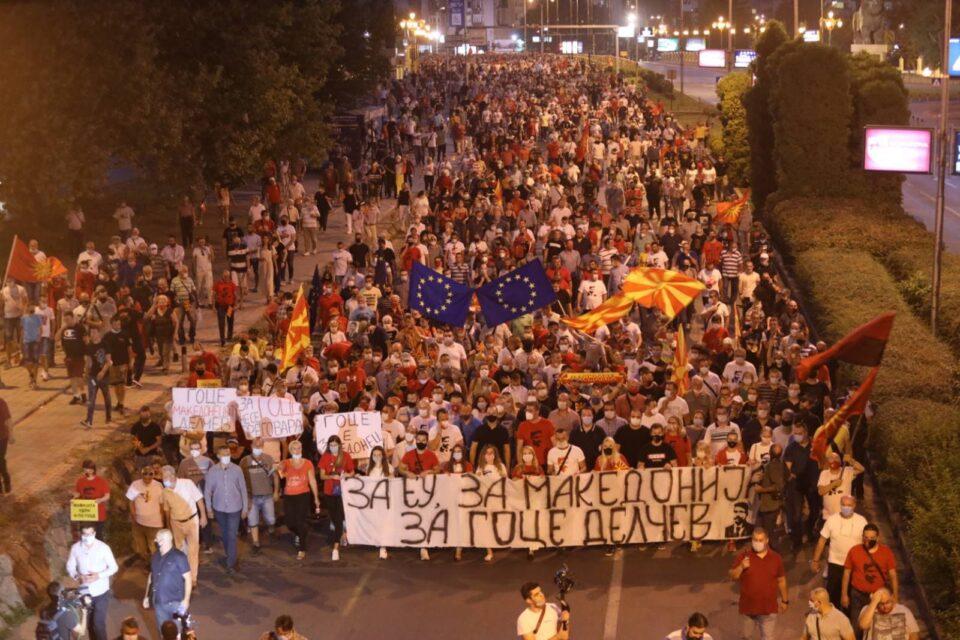 ВМРО-ДПМНЕ СО ЕВРОПСКИ ПРОТЕСТ ЗА МАКЕДОНСКИ ДЕЛЧЕВ