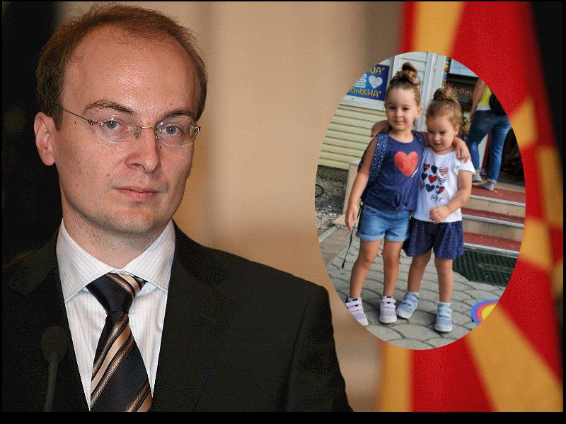 Почнуваме во градинка: Антонио Милошоски им посака среќа на своите ќеркички (ФОТО)