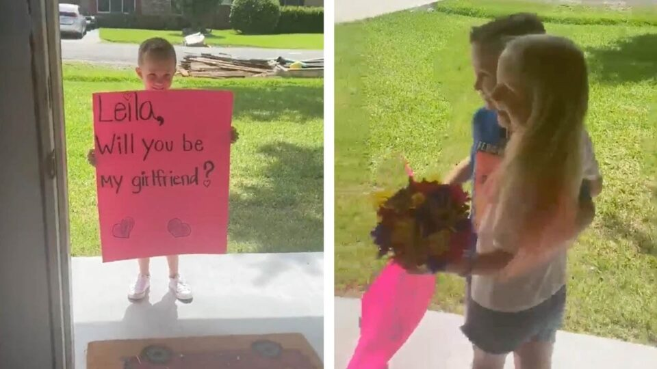 Видео кое ќе ве разнежни: Момче си ја моли другарката од градинка да му биде девојка