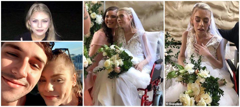 Ѝ остануваат уште неколку дена живот: 23-годишна девојка се венча со љубовта на својот живот