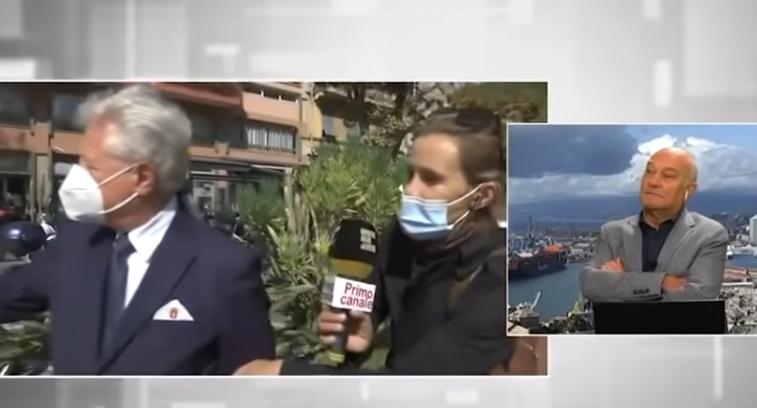 """ВИДЕО: Градоначалник """"ограбен"""" додека давал изјава во живо на телевизија!"""
