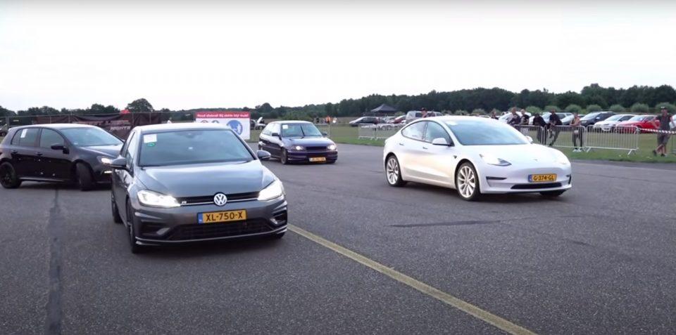 Може ли Golf да биде побрз од Tesla? Да, а еве и како / ВИДЕО