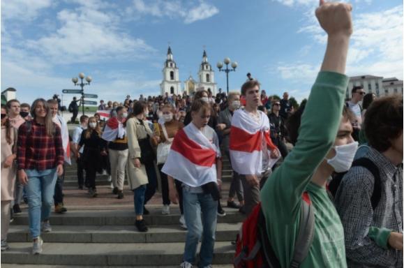 Протест на студентите во Белорусија