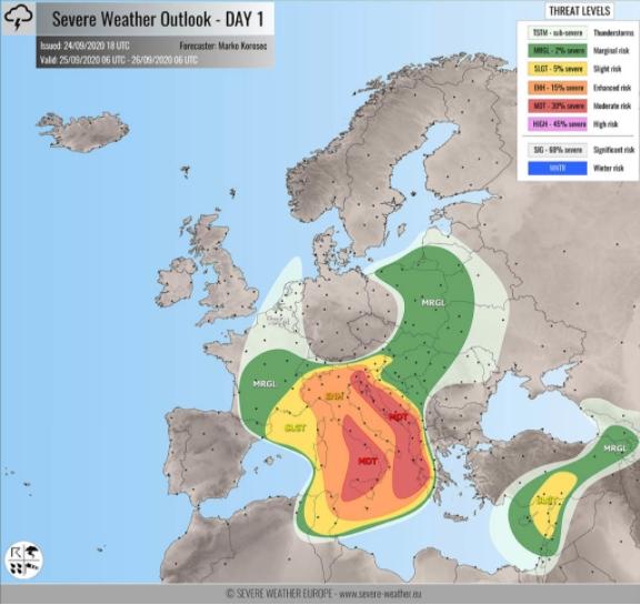 Предупредување за бури, торнада, поројни врнежи и силен ветар за Хрватска и Западен Балкан