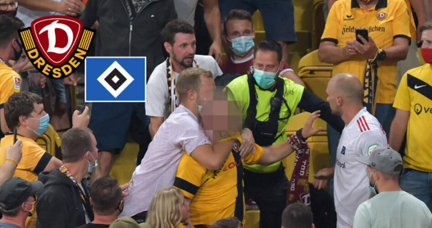 Фудбалер на Хамбургер се тепаше со публиката во Дрезден!