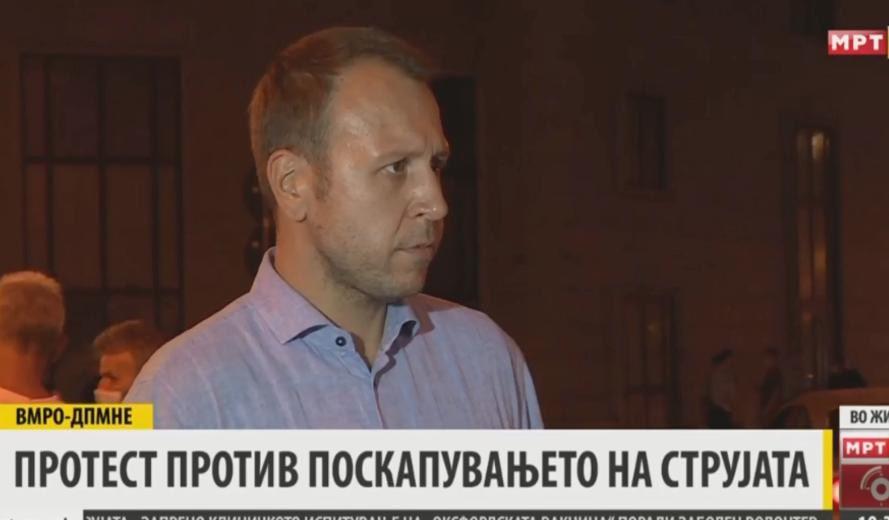 Јанушев: Нема да отстапиме од барањето за укинување на покачената цената на струјата и оставка на првиот човек на Регулаторна