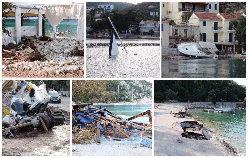 """Убавата Кефалонија по """"Јанос"""" бурата е да заплачеш: Уништена природа, затрупани автомобили, однесени животи (ФОТО/ВИДЕО)"""