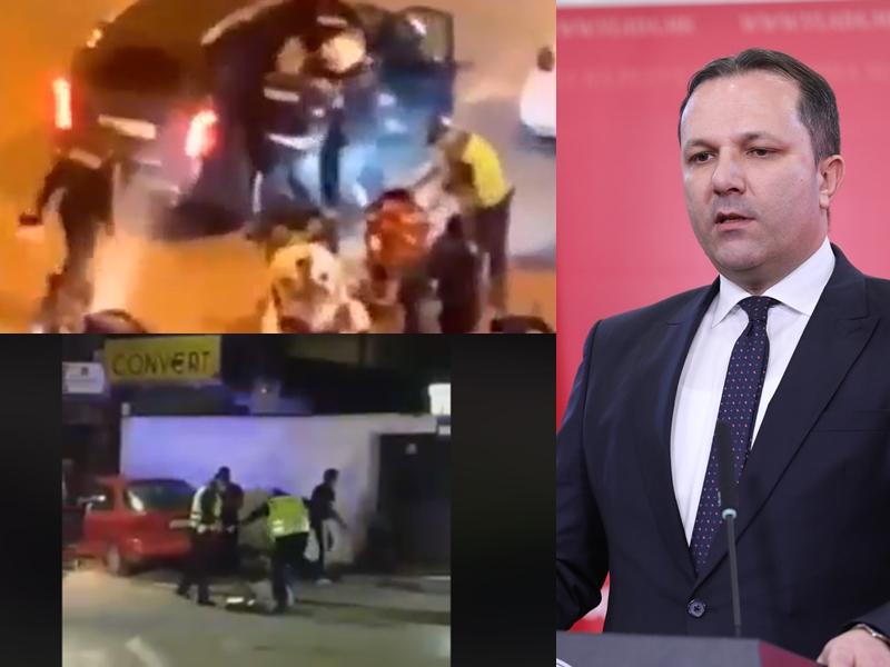 МАКЕДОНИЈА КАКО ДИВ ЗАПАД: Полицијата на Спасовски брутално на секој чекор тепа граѓани, МВР на чело со Оливер мудро молчи
