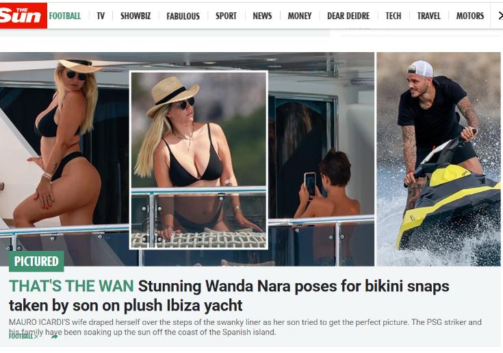 """ФОТО: Ванда ги """"полуде"""" Англичаните, одморот на Ибица комплетно на насловните страни"""