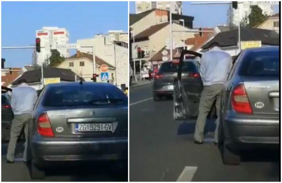 ВИДЕО: Сред бел ден, нема да верувате што направи возач на прометна раскрсница во Загреб