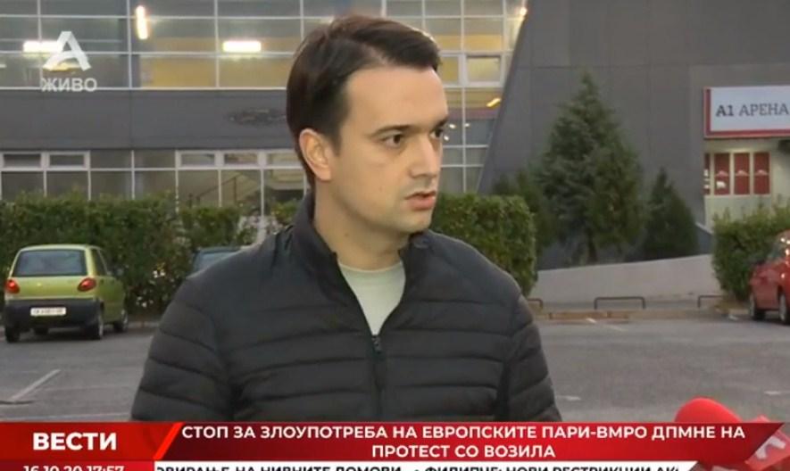Нелоски: Доколку ОЈО не го слушне допрениот глас од пресови и од медиуми, може ќе го чуе од сирените од колоната на возила и ќе покрене постапка за криминалот во агенцијата