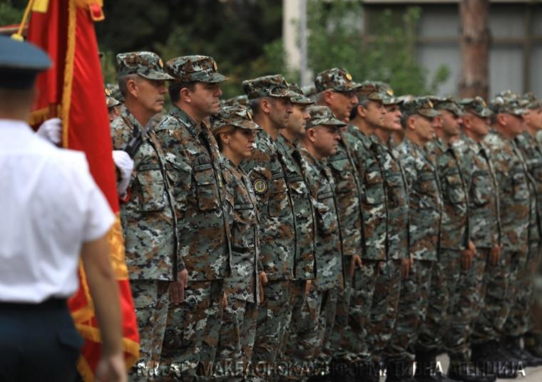 Одбележување на Денот на Командата за операции во кумановската касарна