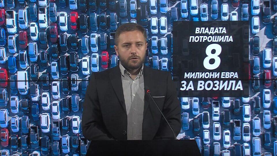 Арсовски: СДСМ за 3 години потроши 8 милиони евра за луксузни автомобили, кај 70% од набавките сомнеж за фаворизирање