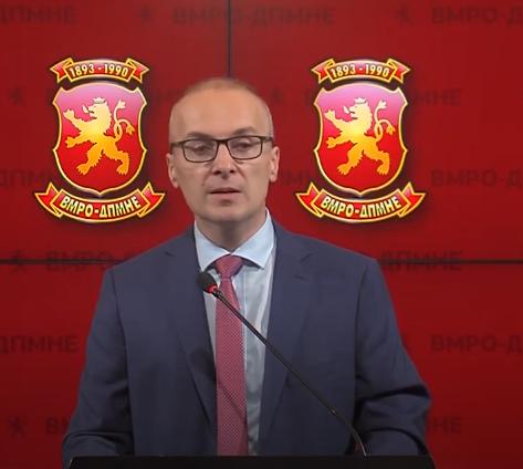 Милошоски: ВМРО-ДПМНЕ предлага предлог закон за формирање на специјална државна комисија за борба против КОВИД