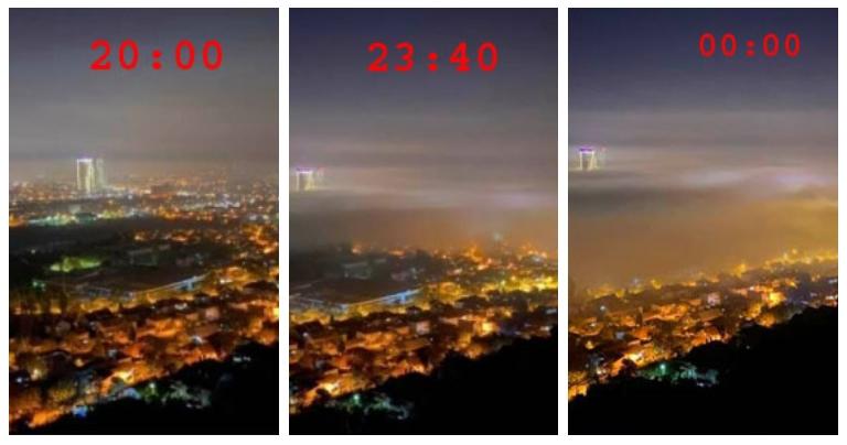 ФОТО: Аерозагадувањето зема замав, еве како изгледаше Скопје синоќа