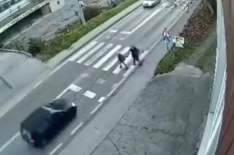 ВОЗНЕМИРУВАЧКО ВИДЕО: Возач од БиХ со автомобил покосил деца на пешачки премин