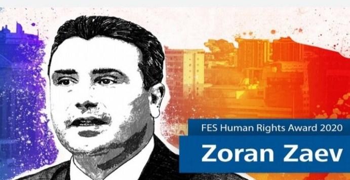 Заев во Берлин доби награда за договор кој не го почитува и ја блокира Македонија кон ЕУ