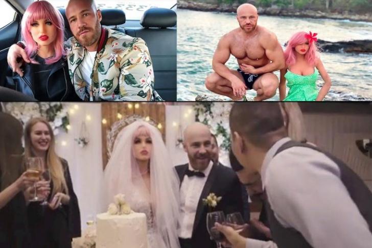 БИЗАРНО: Бодибилдер се ожени со секс кукла, неговите изјави се шокантни (ВИДЕО)
