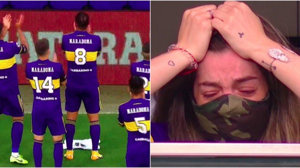 ФОТО+ВИДЕО: Сцени од кои солзите не запираат – Бока со посебна чест за Марадона, ќерката не можеше да ја сокрие тагата