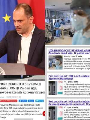 ФОТО: Балканот во шок од ужасните вести и мртви во Македонија од коронавирусот