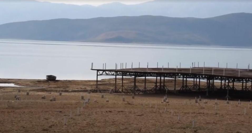 Намален водостојот на Преспанското Езеро
