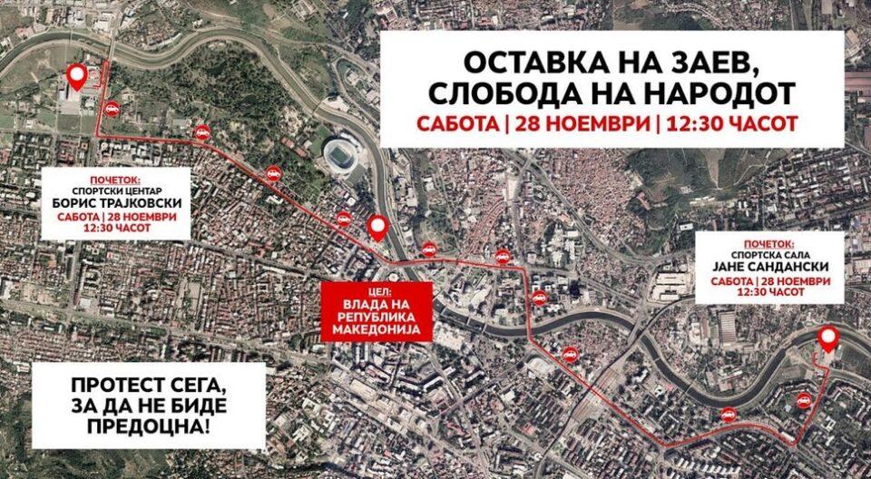 Денес протест во Скопје, заеднички да порачаме: Оставка на Заев, слобода на народот!