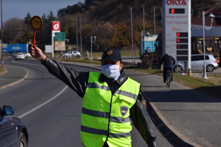 МВР: 140 казни за сообраќајни прекршоци во Скопје, 78 за брзо возење