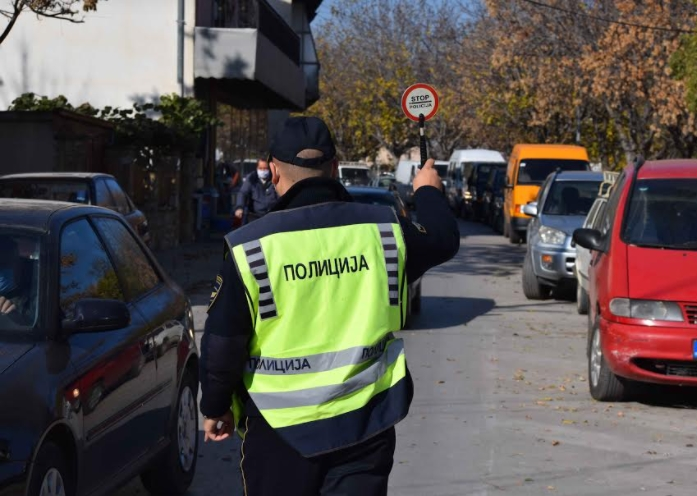 МВР: 132 санкционирани возачи во Скопје