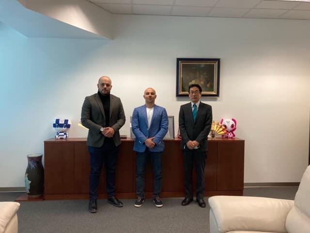 Јапонскиот амбасадор на средба со претседателот на македонската Таеквондо федерација