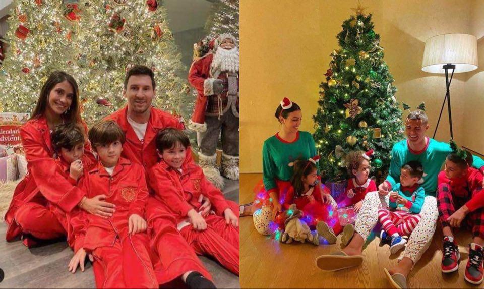 Фото: Божиќ во домовите на Меси и Роналдо