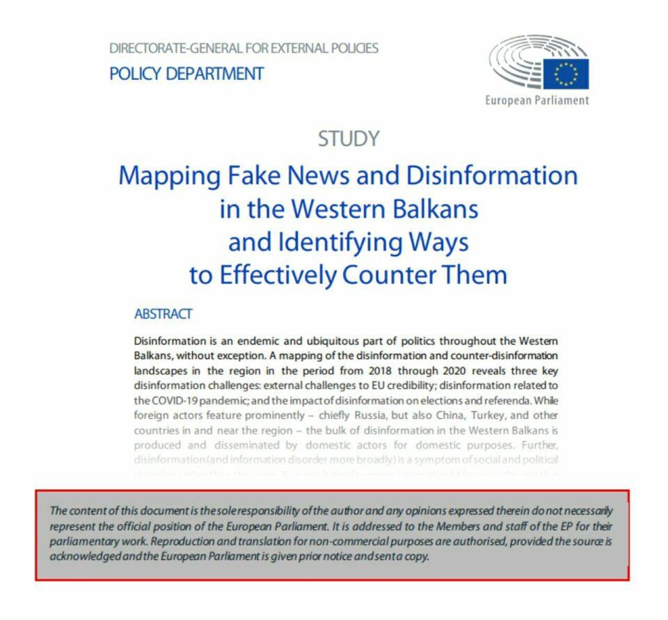 ВМРО-ДПМНЕ: Документот за лажни вести не е став на Европскиот парламент, ова е доказ дека зад вистинската хистерија на лажни вести стои Заев