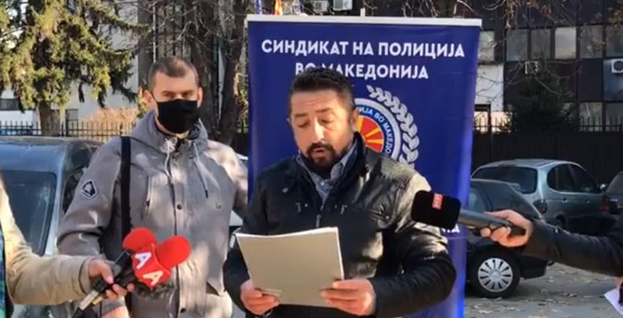 Полицискиот синдикат го обвинија Спасовски за незаконско прераспоредување на нивниот претседател: До работа ќе треба да патува 110 километри
