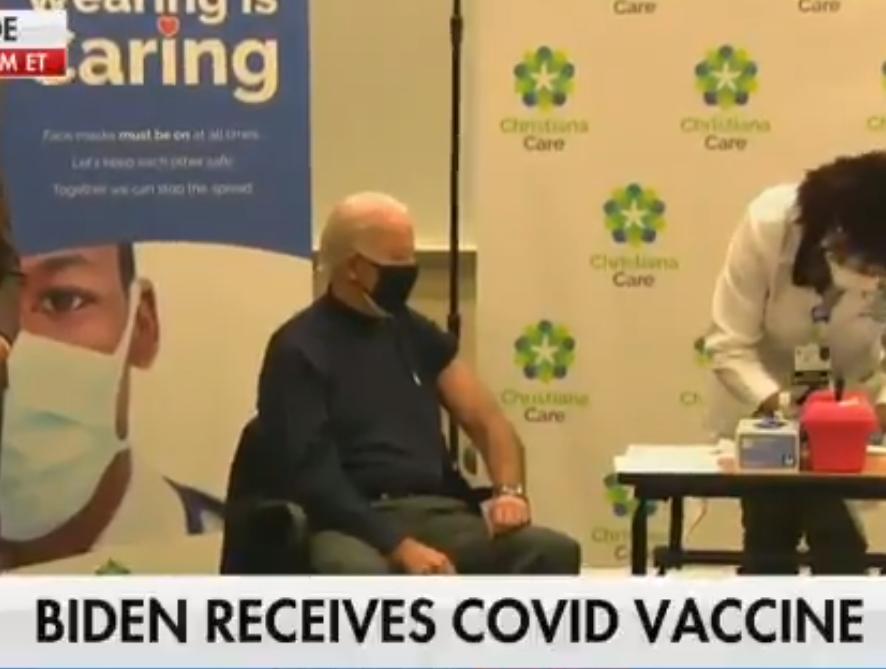 Џо Бајден вакциниран против корона вирус во живо на телевизија