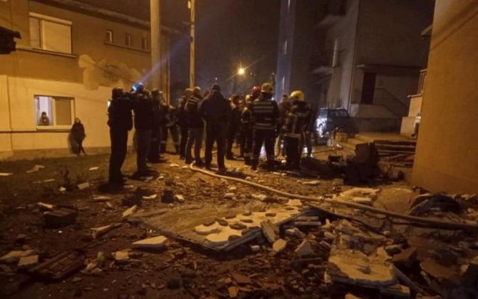 Експлозија предизвикана од плинска боца во зграда во Ужице (ФОТО)