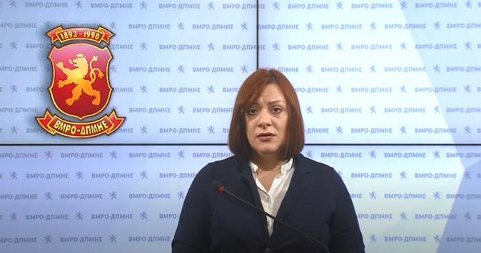 Димитриеска Кочоска: СДСМ донесе рецесија, паднаа инвестициите и зголемување на невработеноста