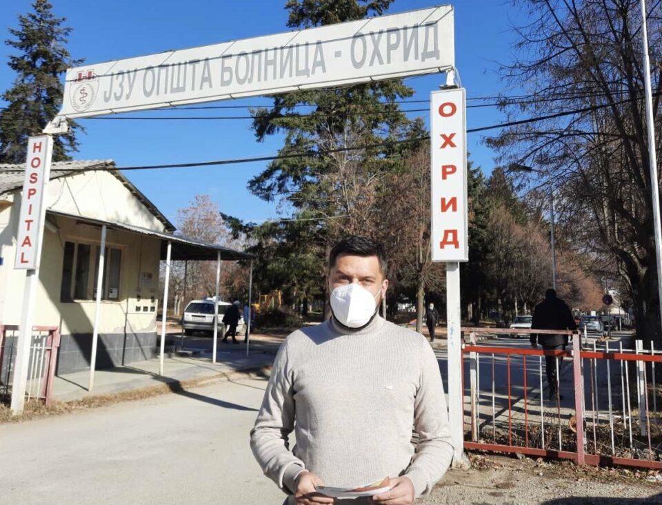 Божиновски: Општата болница во Охрид стана ковид центар, граѓаните се оставени самите на себе, а власта не покажува грижа за нивното здравје