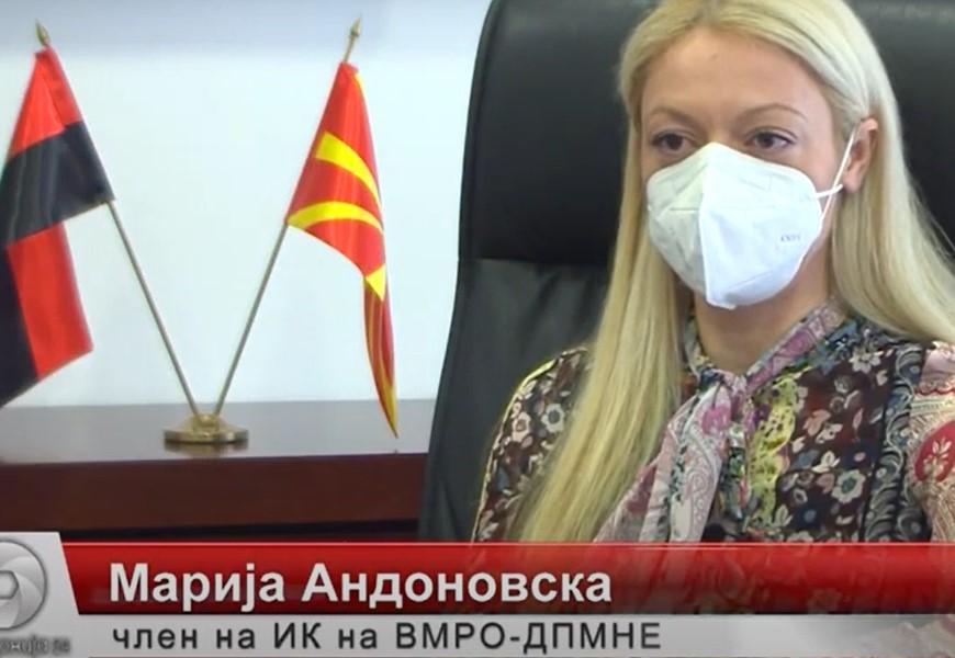 Андоновска: Граѓаните изгубија доверба во здравствениот систем, најавите на власта за вакцините влеваат само сомнеж