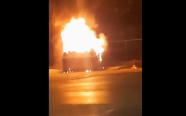 Ексклузивно видео: Возило изгоре во Кисела Вода