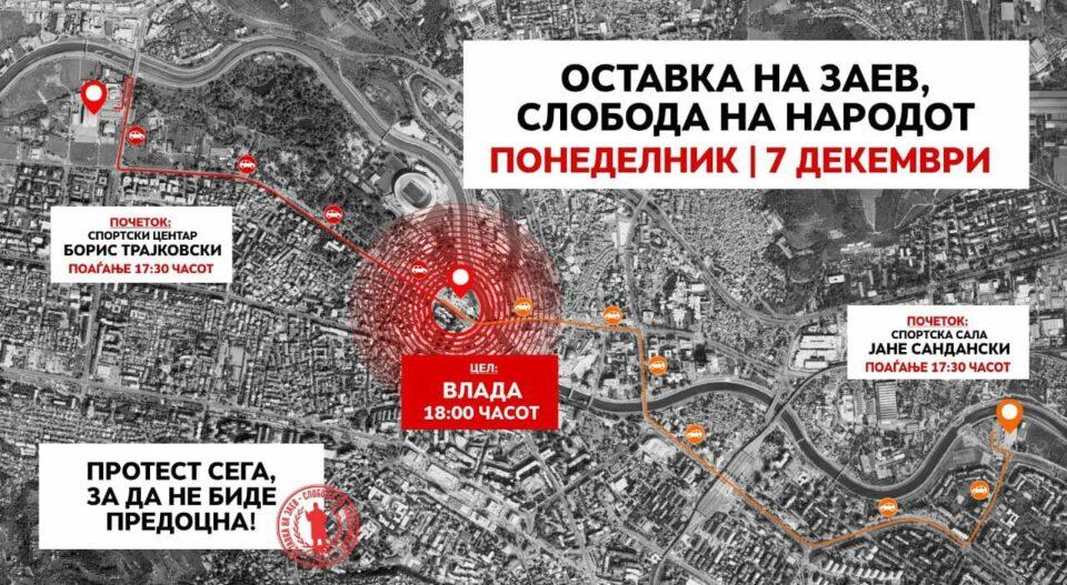 """СЛЕДЕТЕ ВО ЖИВО: """"Протест сега, за да не биде предоцна – оставка на Заев, слобода на народот"""""""