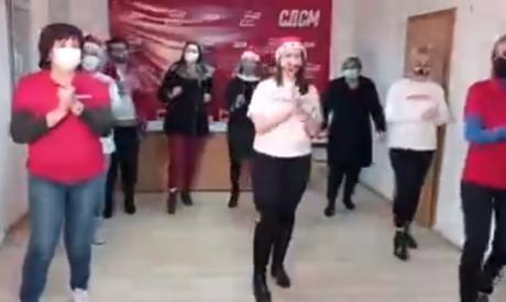 СКАНДАЛ: СДСМ злоупотреби ковид болница за спот, докторите во строј ги дочекаа партиските функционери
