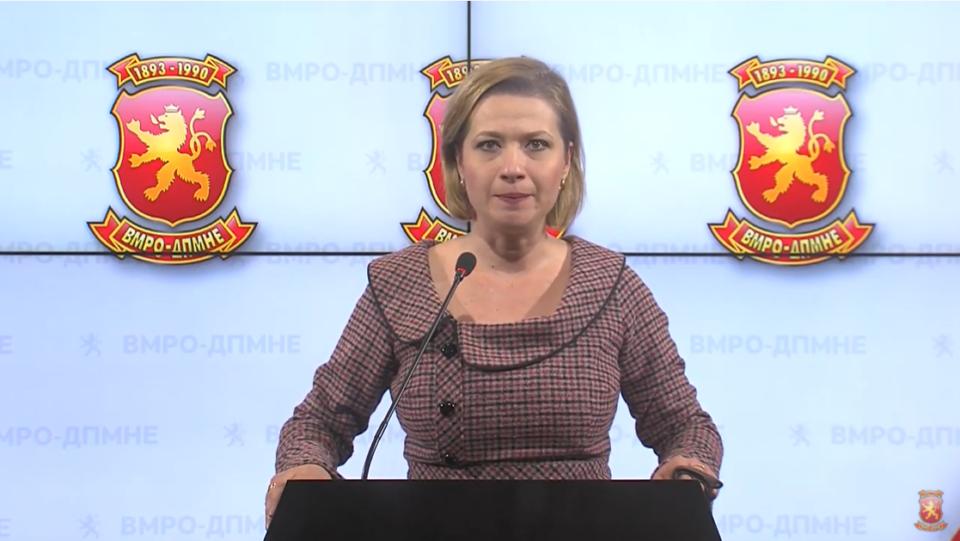 Василевска: ВМРО-ДПМНЕ нема да биде нем набљудувач на овој фингиран попис, поднесовме Предолг закон за престанување на важењето на Законот за попис