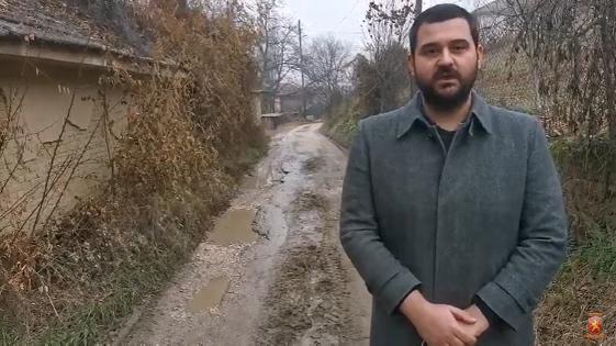 Живковски: Улиците во Усје се раскопани со дупки и кал, Темелковски ништо не направи за граѓаните на Кисела Вода