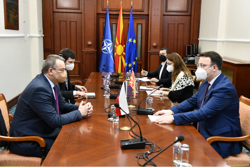 Средба на претседателот на Националниот совет за евроинтеграции Александар Николоски со чешкиот амбасадор Мирослав Томан
