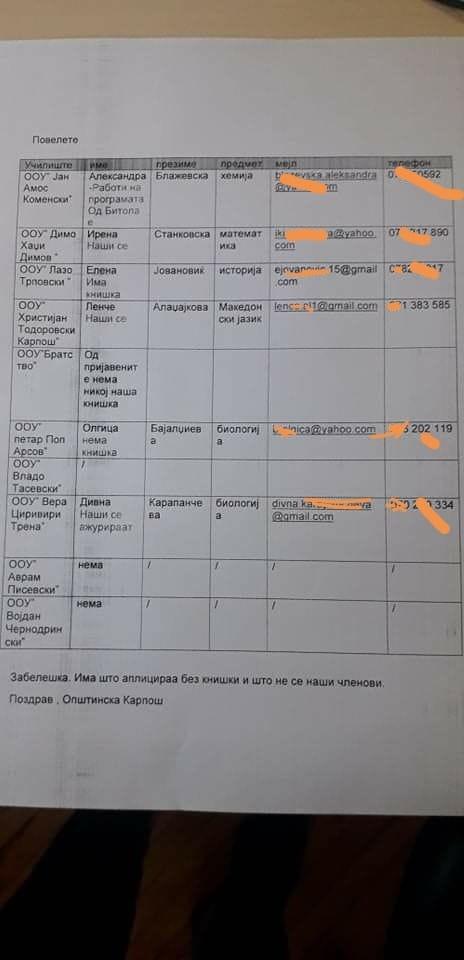 """ТЕЖОК СКАНДАЛ: Во општина Карпош во образованието се напредува на принцип """"Наши се, имаат книшки"""""""