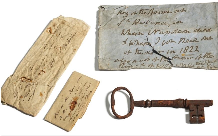 ФОТО: Клучот од занданата во која починал Наполеон, продаден за 92.000 евра