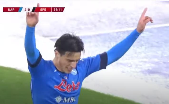 ВИДЕО: Елмас со маестрален гол придонесе Наполи да биде однесен во полуфиналето на Купот на Италија