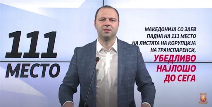 Мисајловски: По катастрофалните лоши резултати со корупцијата ќе поднесеме интерпелација за Николовски и Маричиќ – функционери се однесуваат како главни мафијаши, а одговорност нема