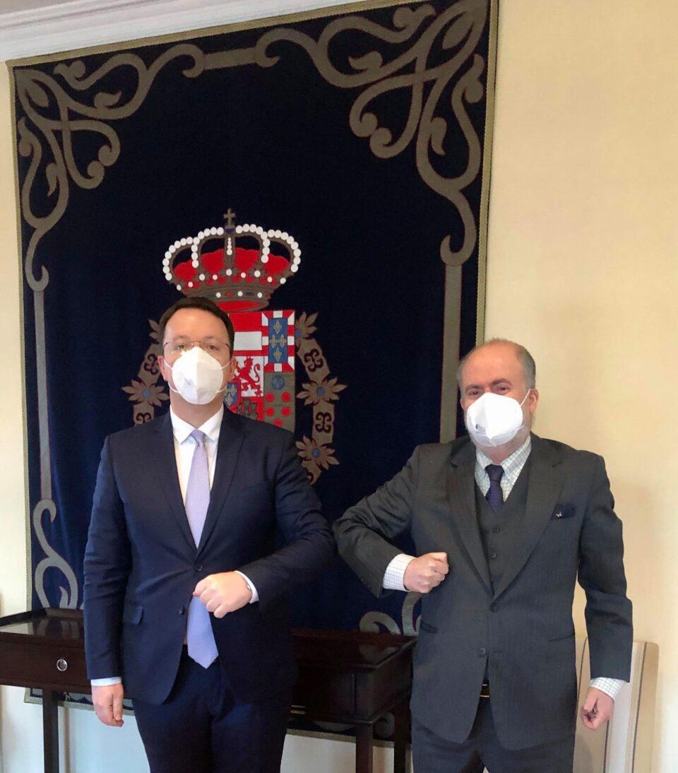 Николоски оствари средба со амбасадорот на Кралство Шпанија, Лоренцо Сера