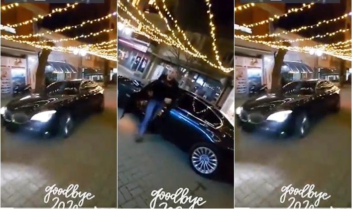 Познат идентитетот на радовишанецот кој возеше БМВ на плоштад, полицијата го приведе